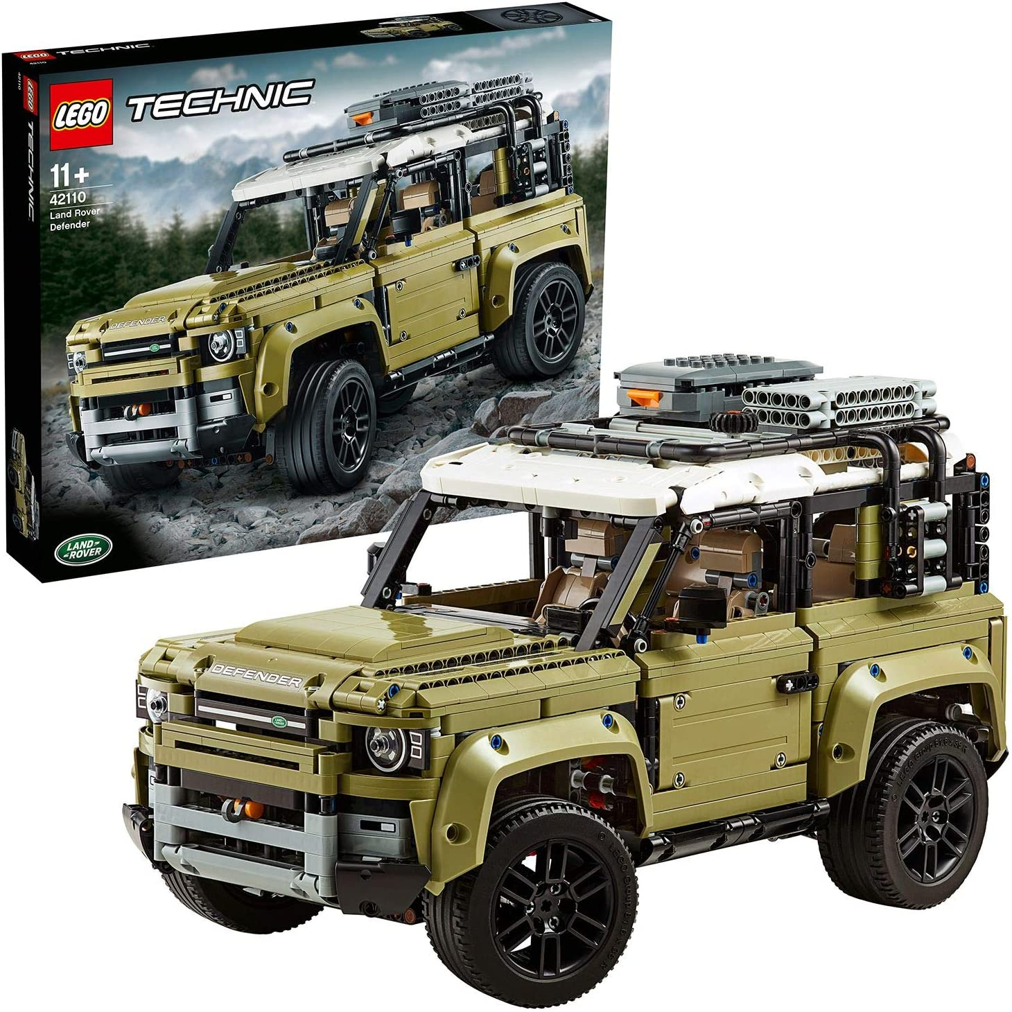 LEGO 42110 Technic Land Rover Defender Off Road 4x4 Car, Exclusive Collectible Model, Enhanced Building Set: Toys & Games