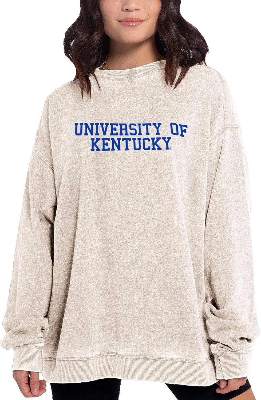 chicka-d NCAA womens Burnout Fleece Crew Pullover