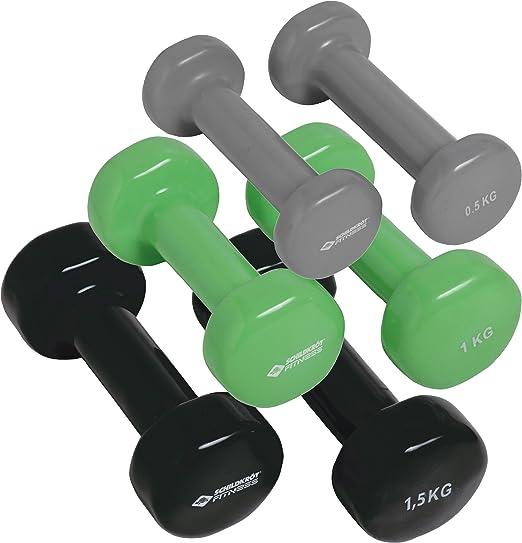 Schildkröt Fitness 960010 - Juego de mancuernas (en maletín), color negro, gris y verde: Amazon.es: Deportes y aire libre