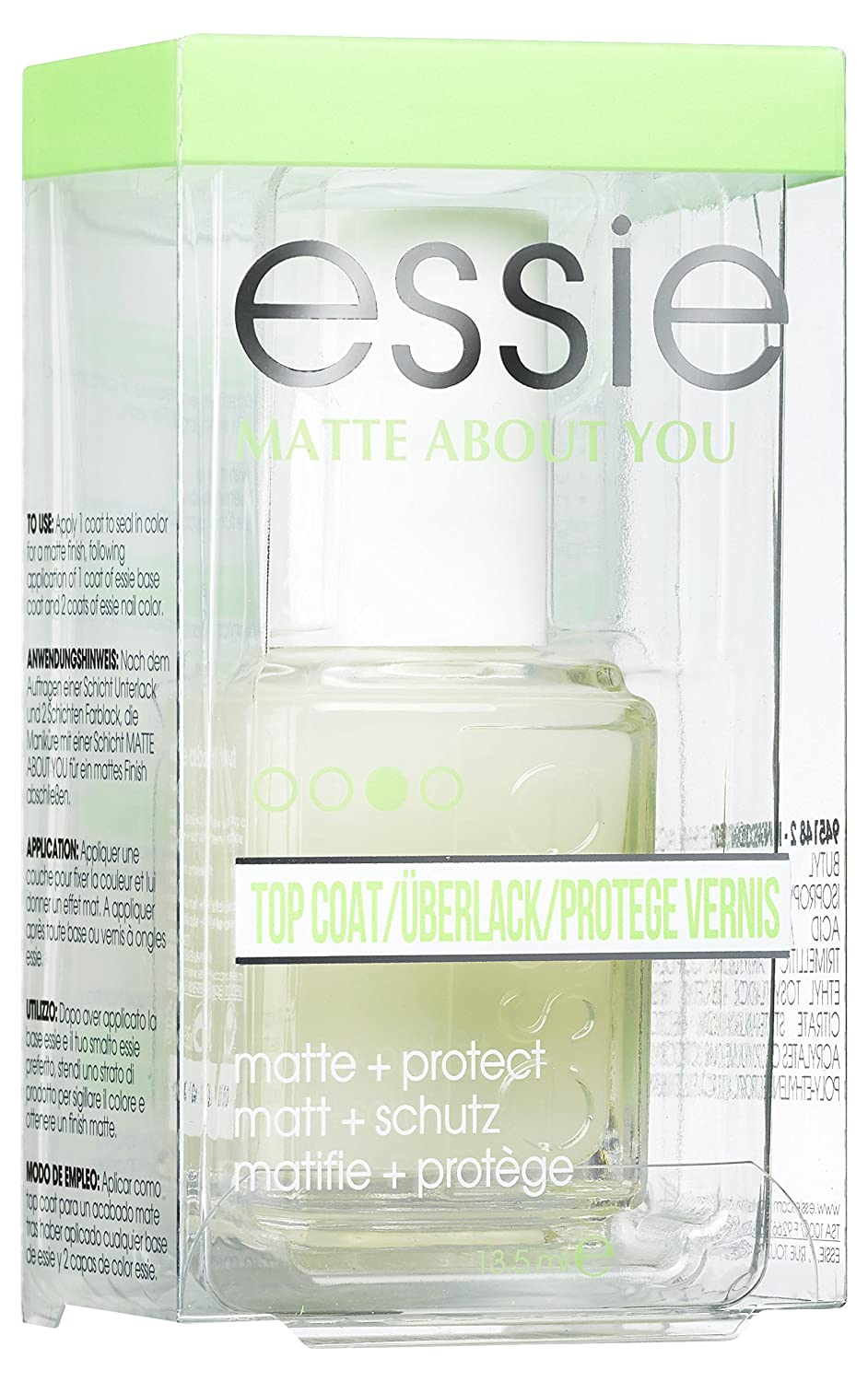 Essie Top Coat Matte About You - top coat esmaltes de uñas (Transparente, Matting, Mujeres) B27428