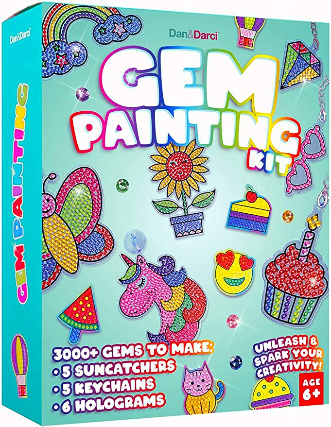 Gift for Kids Activities Age 6 7 8 9 10 11 12 Arts and Crafts for Kids 2 Pack Diamond painting kits for kids Diamond Painting Kit with Frame for Beginners Girls /& Boys Easy Craft Kits Art Set