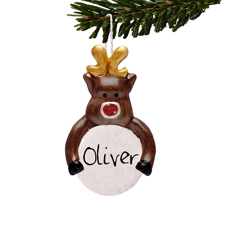reindeer personalised christmas tree decoration childrens gift