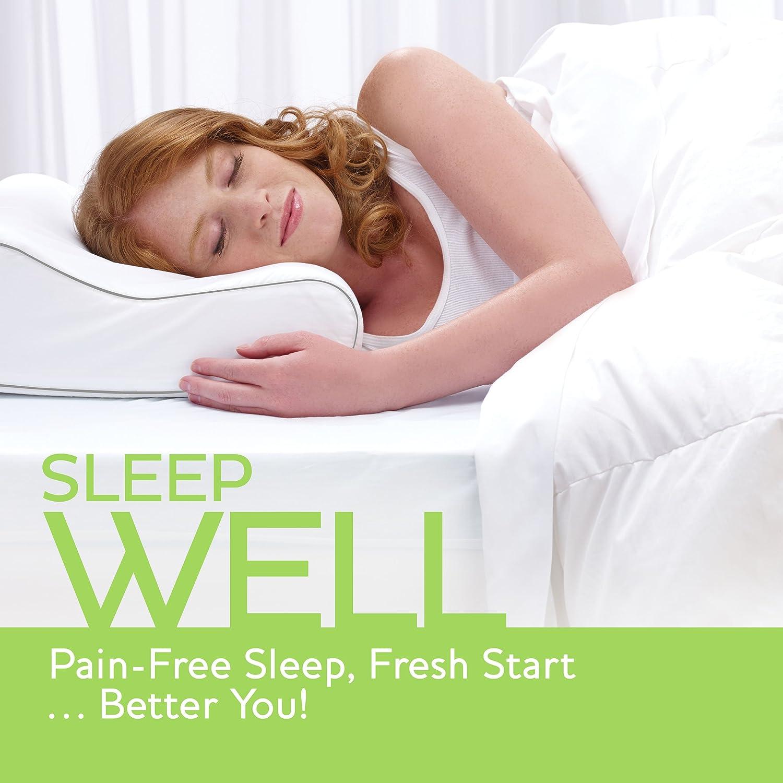 sleep innovations contour memory foam pillow review