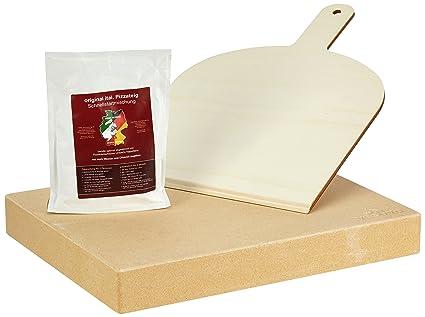 Vesuvo Pack de piedra para horno y barbacoa V38305 / para cocinar pizzas y pan /