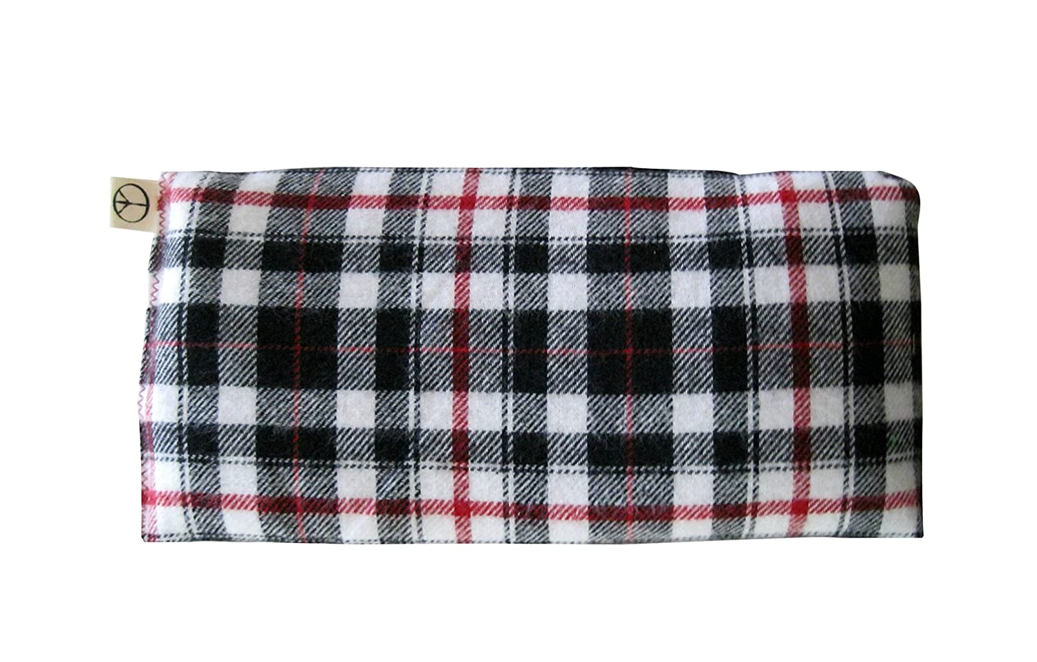 Naturally Soothing 10 x 22 Green red Yellow Blue Scented Yoga Eye Pillow Organic Lavender Flax Seed Soft Cotton Flannel Plaid