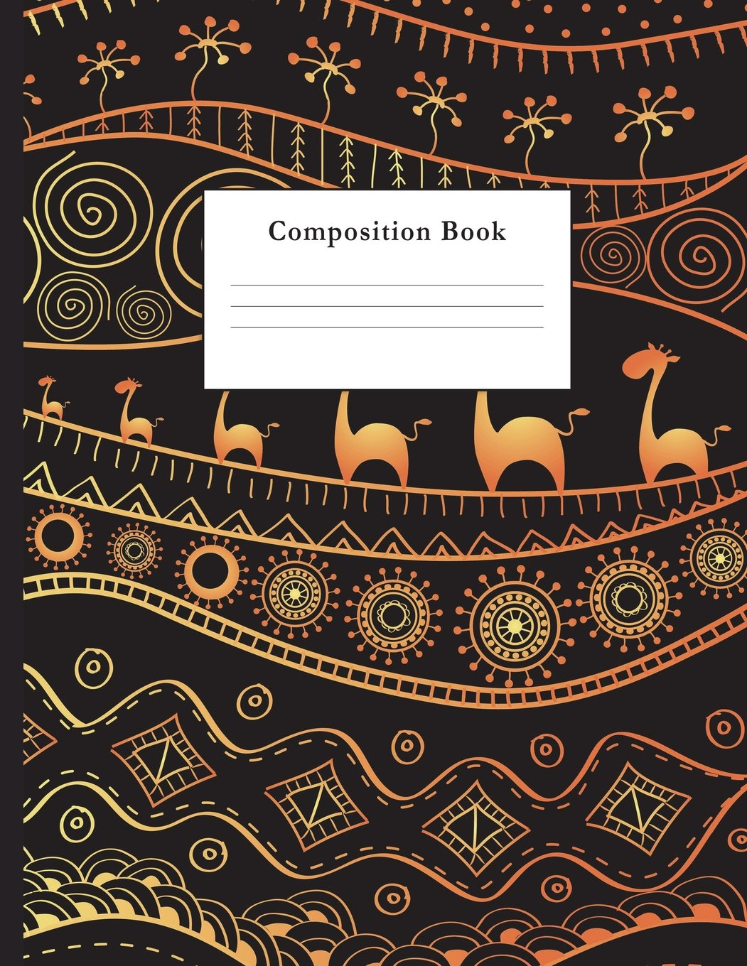Download Composition Book: Ethnic African Pattern College Ruled Notebook for Taking Notes Journaling School or Work for Girls PDF