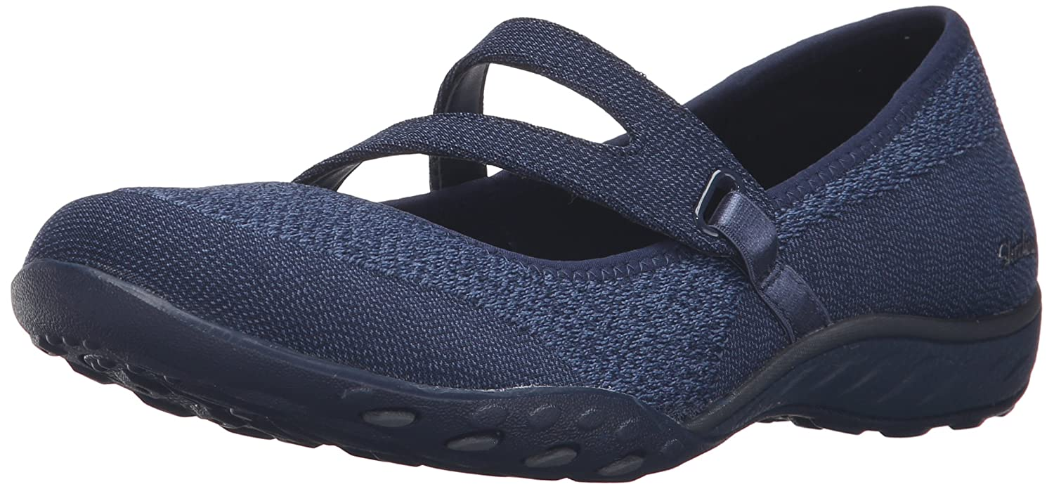 Skechers Breathe Easy-Lucky Lady, Merceditas para Mujer 38 EU|Azul (Nacy Nvy)