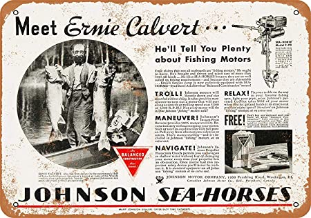 Fluse Johnson Boat Motors Vintage Metal Art Chic Retro Metal ...