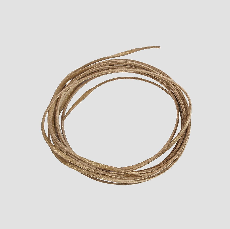 /Creation Perlas BOUTIQUE DES COULEURS 4/metres de cord/ón cord/ón Plana Aspecto Ante Facon Antelina Color Dore Brillante 3/x 1,5/mm/ /Patines/