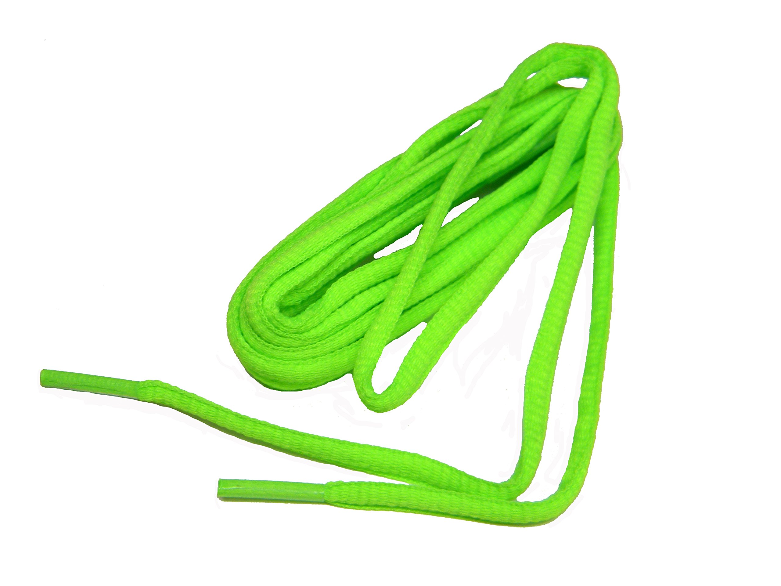 24 Pair Pack proATHLETIC(tm) OVAL 6mm Shoelaces Bulk pack TEAMLACES(tm) Support Cancer Awareness! (40 Inch 102 cm, HOT NEON GREEN)