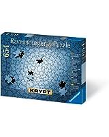 Ravensburger Krypt Silver 654 Piece Blank Puzzle Challenge