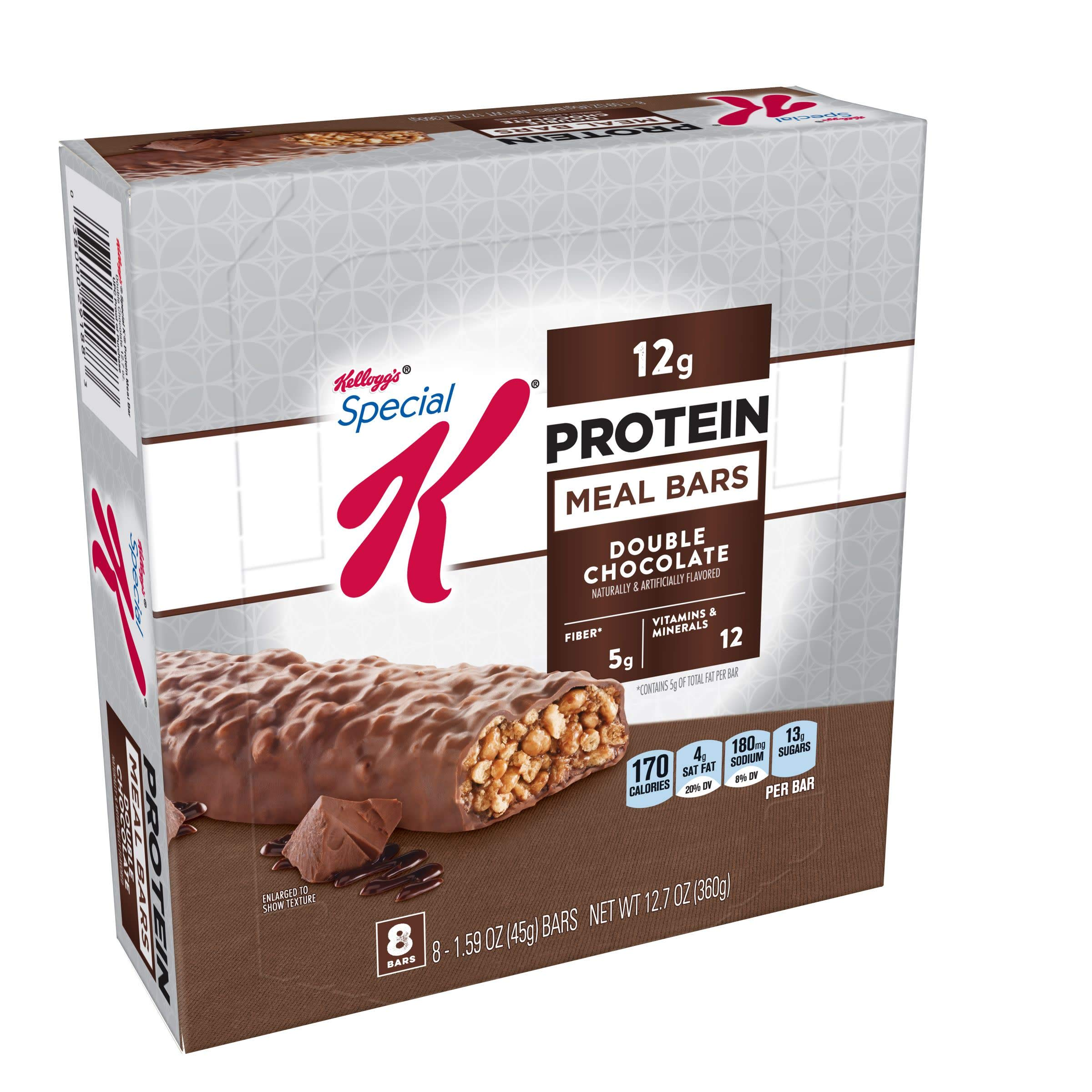 Special K Protein Meal Bars, Double Chocolate, 12.7 oz, 8 Count(Pack of 2) by Special K