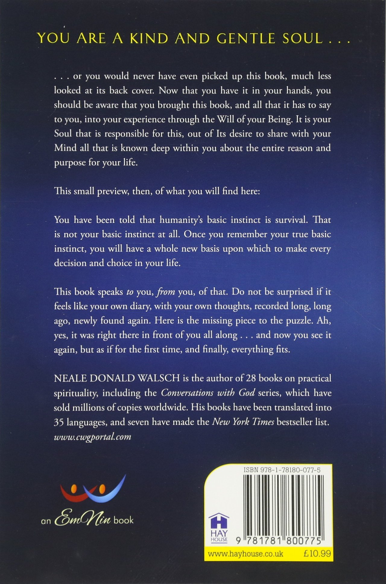 The Only Thing That Matters: Neale Donald Walsch: 9781781800775:  Amazon: Books
