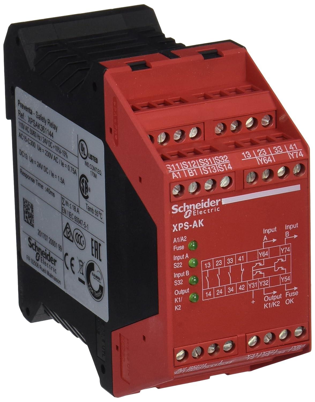 AK Parada de Emergencia 110 V CA Schneider Electric XPSAK361144 M/ódulo XPS