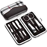 Nail Clippers Set of 9 Pcs/7pcs, YoJiSa Professional nail kits&manicure Pedicure Stainless Steel Nail set, Personal Care Nail Utility Grooming Kit with Portable Case (Nail clippers set of 7pcs)