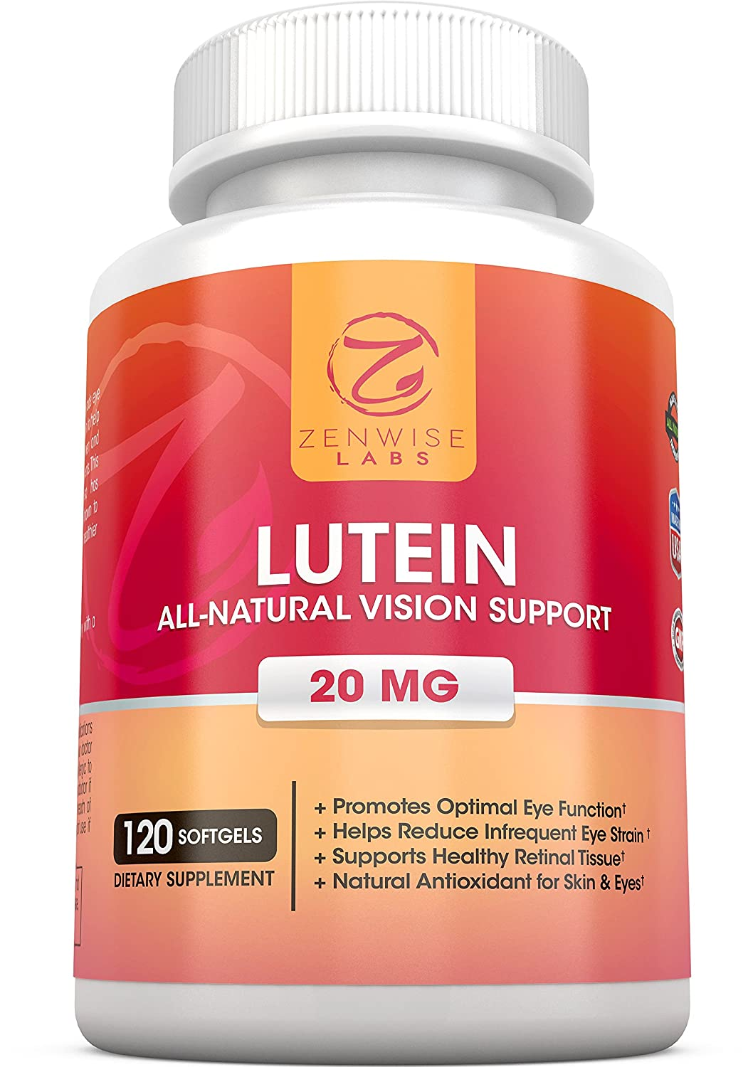 Lutein With Optilut 10 Mg: Lutein 20mg Vitamin Supplement