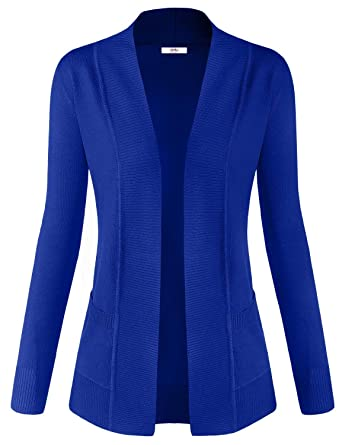 Simlu Women Soft Long Sleeve Open Front Cardigan Sweater at Amazon ...