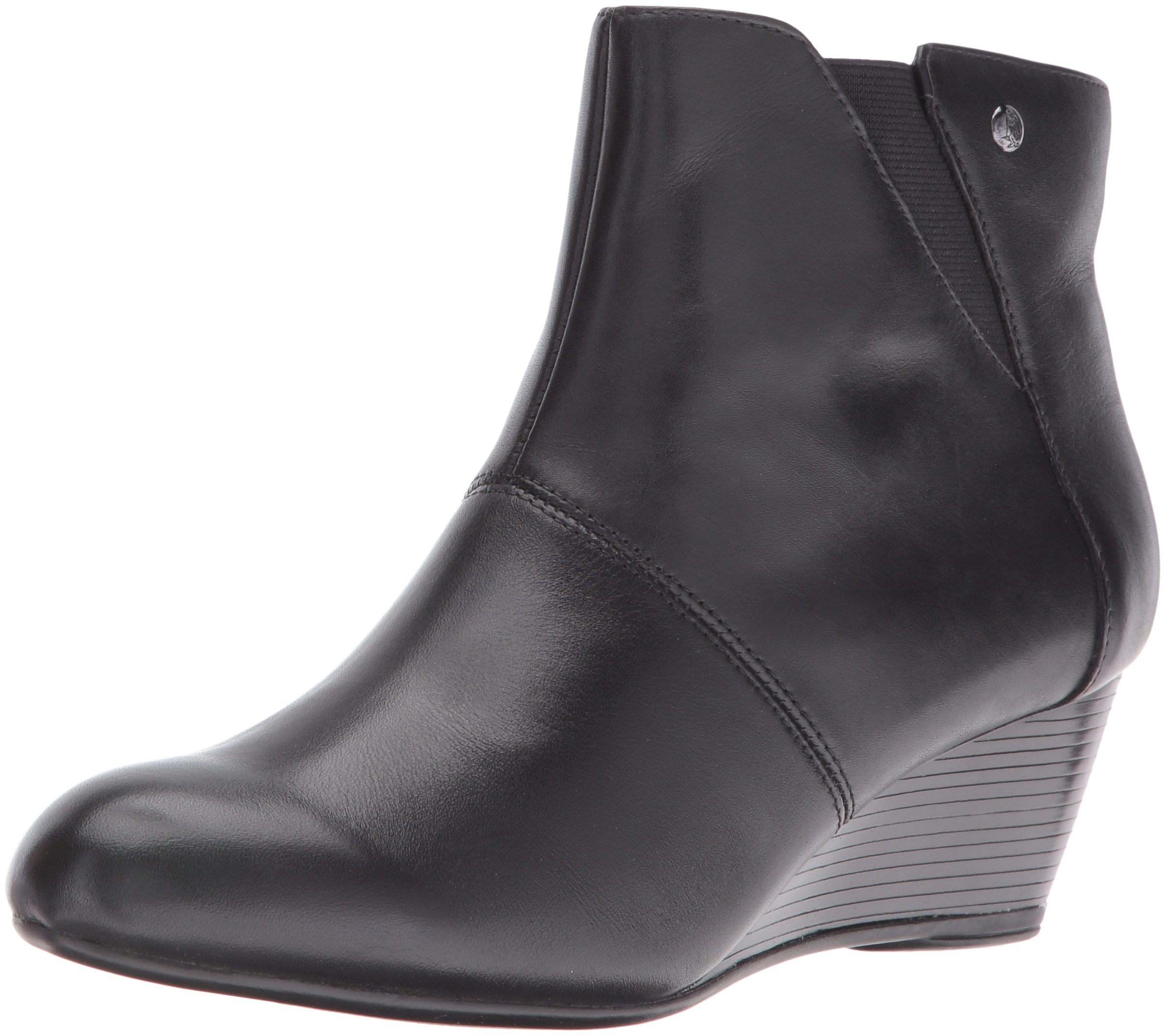 Hush Puppies Women's Poised Rhea Boot, Black Wp Leather, 11 W US