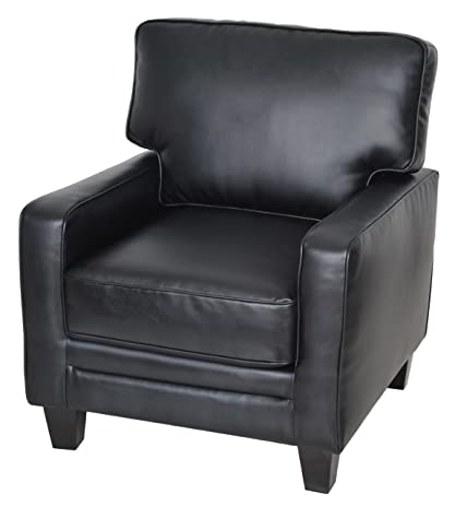 Ordinaire Serta Santa Rosa Collection Accent Chair, Black Leather, CR44106