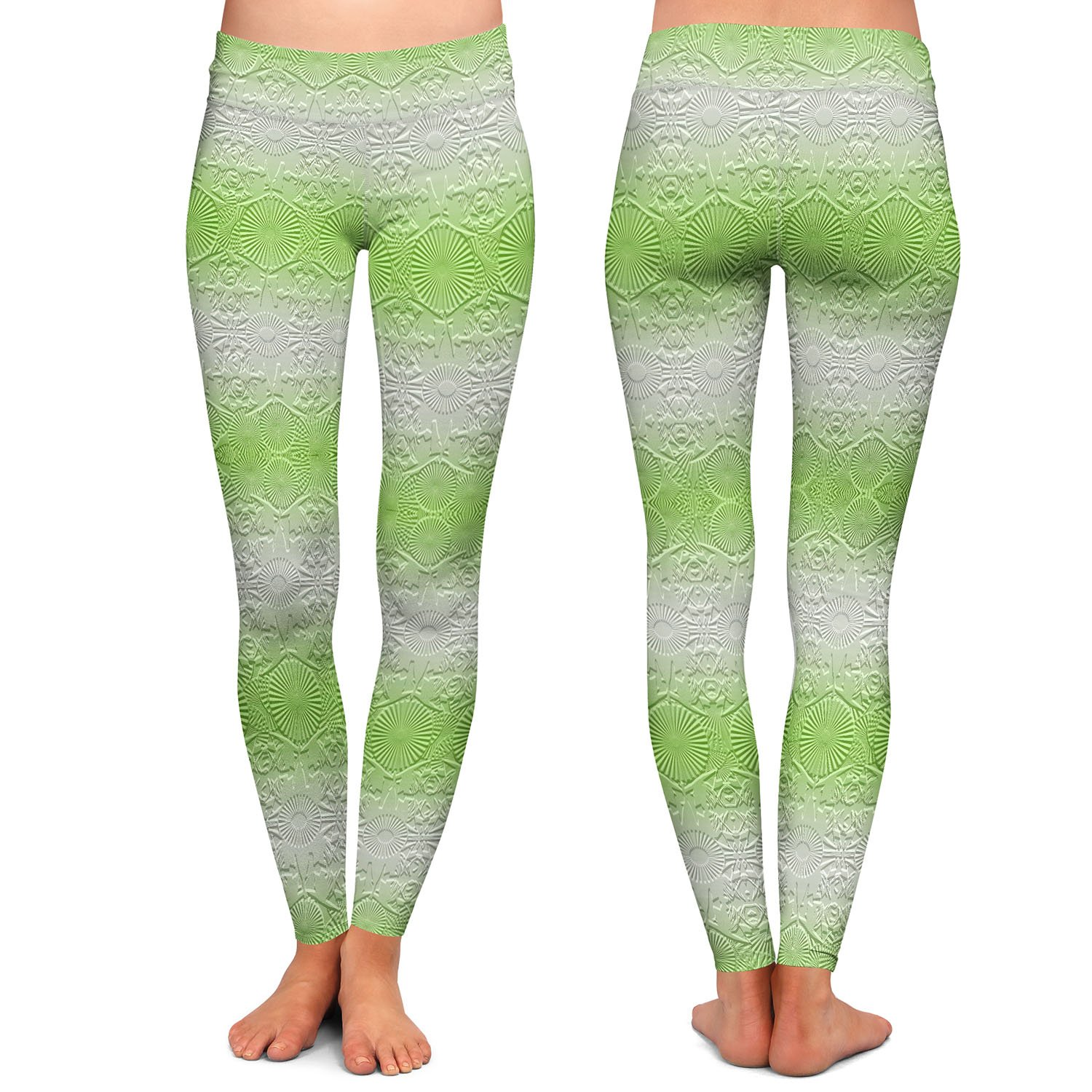 North East 2 Soft Lime Athletic Yoga Leggings from DiaNoche Designs by Susie Kunzelman