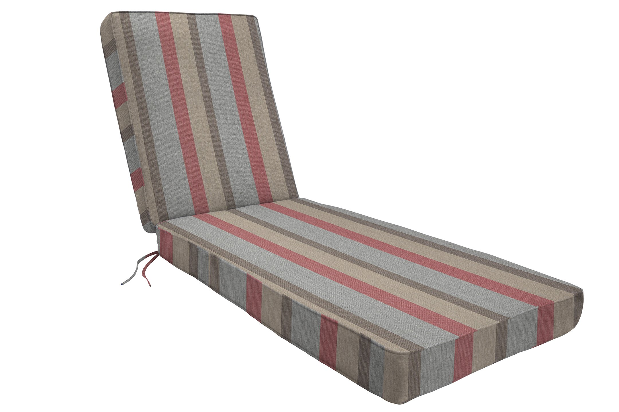 Eddie Bauer Home Chaise Double Piped 26'' W x 82'' L x 2.5'' H, Gateway Blush