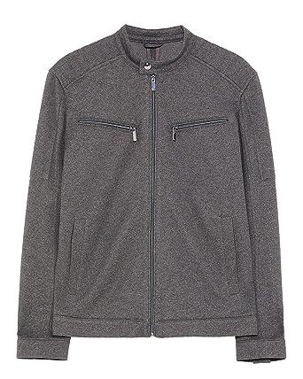 a4905119 Zara Men Pique Biker Jacket 0706/490 at Amazon Men's Clothing store: