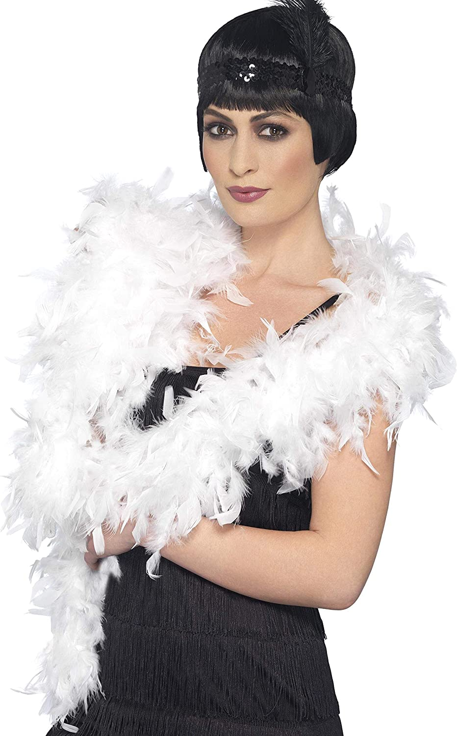 Fever Womens Deluxe Boa Feather 180Cm 80G On Display Card