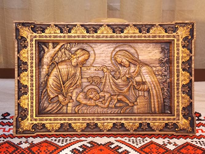 Amazon Com Holy Family Nativity Icon Unique Christian Gift
