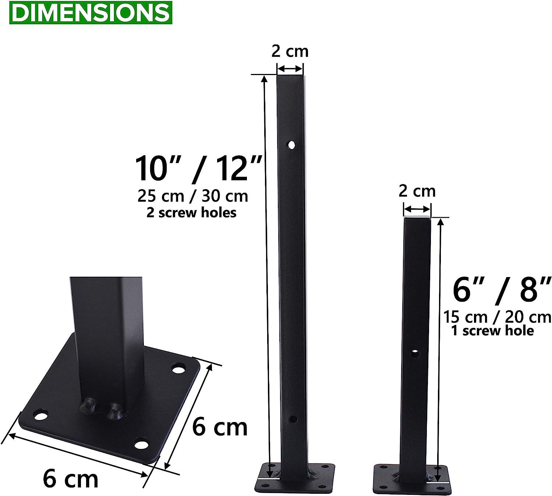 6 Pcs Floating Shelf Brackets 10 Inch Heavy Duty Wall Mounted Industrial Metal Shelf Supports: Home Improvement
