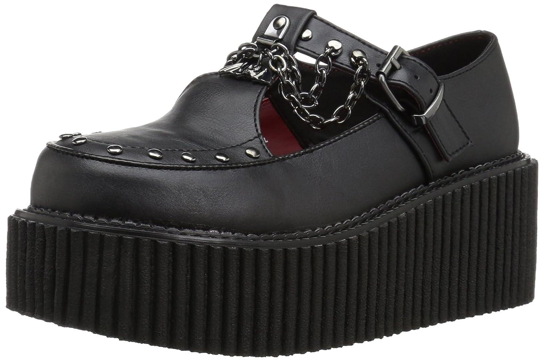 Demonia Women's Creeper-215 Sneaker B01M01B6AR 8 B(M) US|Black Vegan Leather