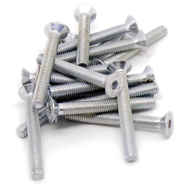 lot de 20 6/MM X 50/mm Douille hexagonale Vis /à t/ête frais/ée Boulons en acier M6/