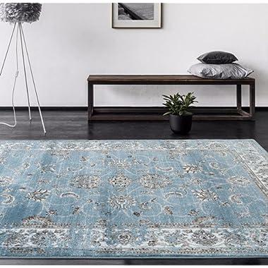 4535 Distressed Blue 5'2x7'2 Area Rug Carpet Large New