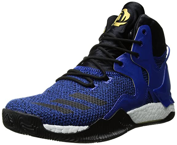 adidas Originals Men's Shoes | D Rose 7 Basketball, Blue/Black/Metallic Gold, (12.5 M US)
