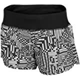 "Nike Women's Dri-Fit Printed 4"" Rival Running Shorts-Black/Gray-XS"