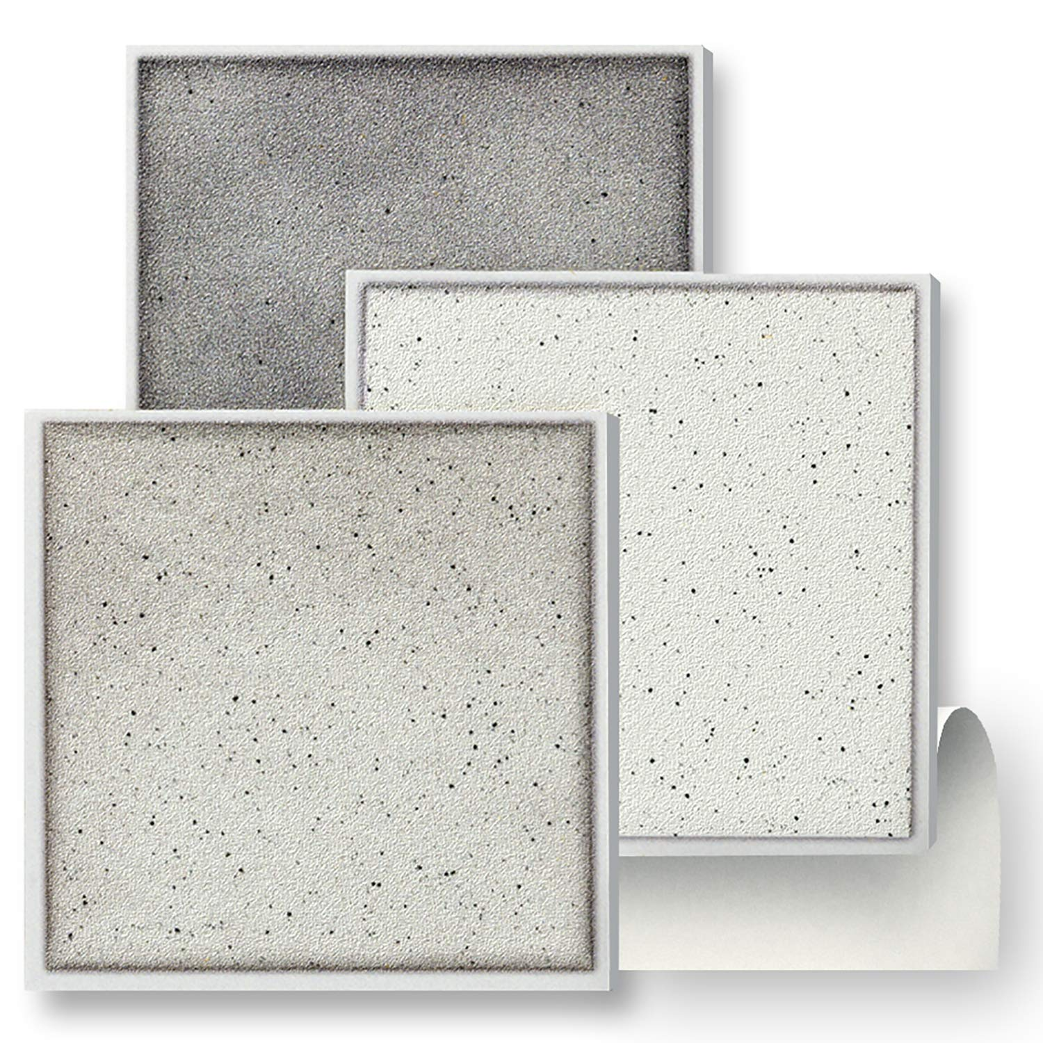 18 SELF ADHESIVE TILES: GREY SPECKLE MIX WALL TILES - 4