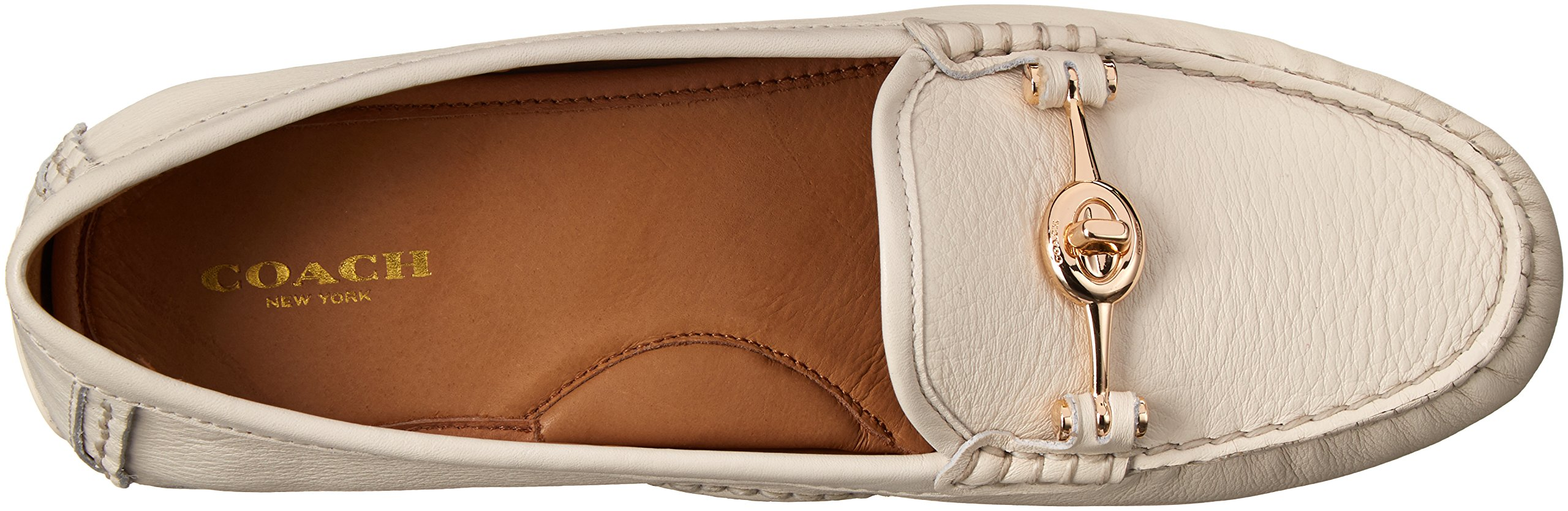 COACH Women's Arlene Chalk Pebble Grain Leather Flat by Coach (Image #8)