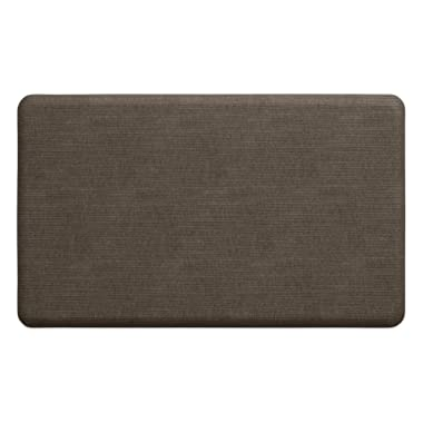"""NewLife by GelPro Anti-Fatigue Designer Comfort Kitchen Floor Mat, 18x30"""", Modern Grasscloth Pecan Stain Resistant Surface with 5/8"""" thick ergo-foam core for health and wellness"""