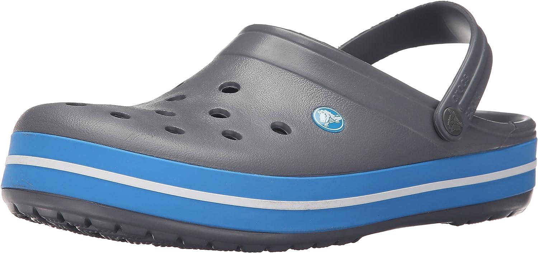Charcoal-Ocean Crocs Crocband U Zuecos Unisex Adulto Gris 37-38 EU