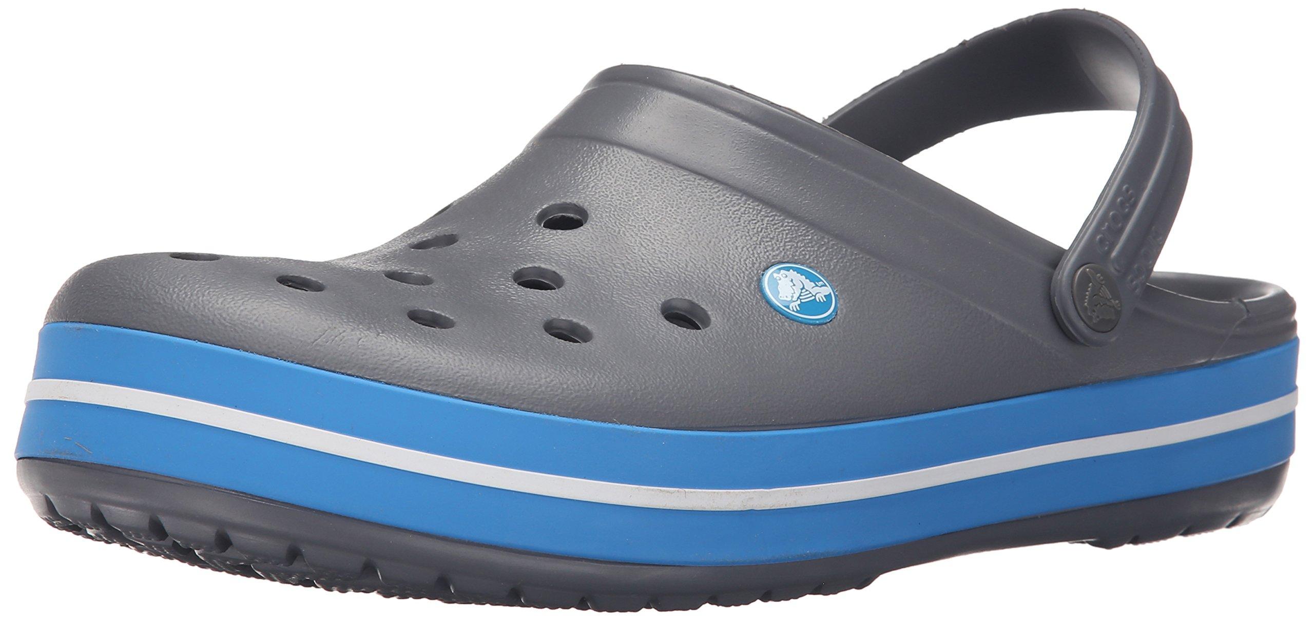 Crocs Unisex Crocband Clog, Charcoal/Ocean, 8 US Men / 10 US Women
