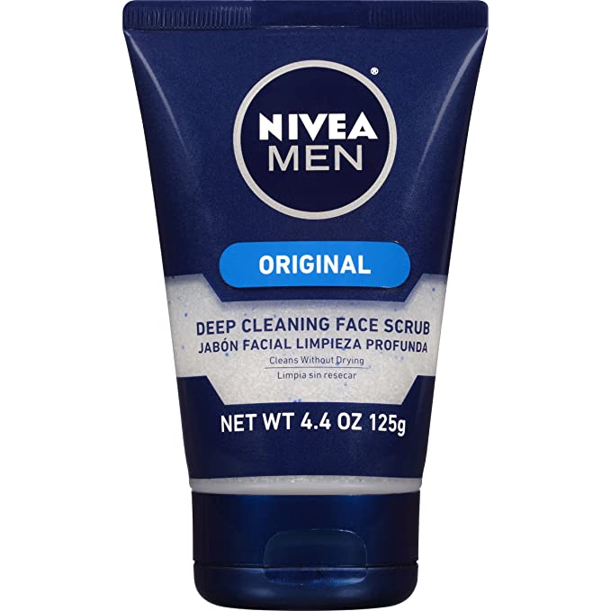 Amazon Com Nivea Men Original Deep Cleaning Face Scrub 4 4 Ounce Beauty