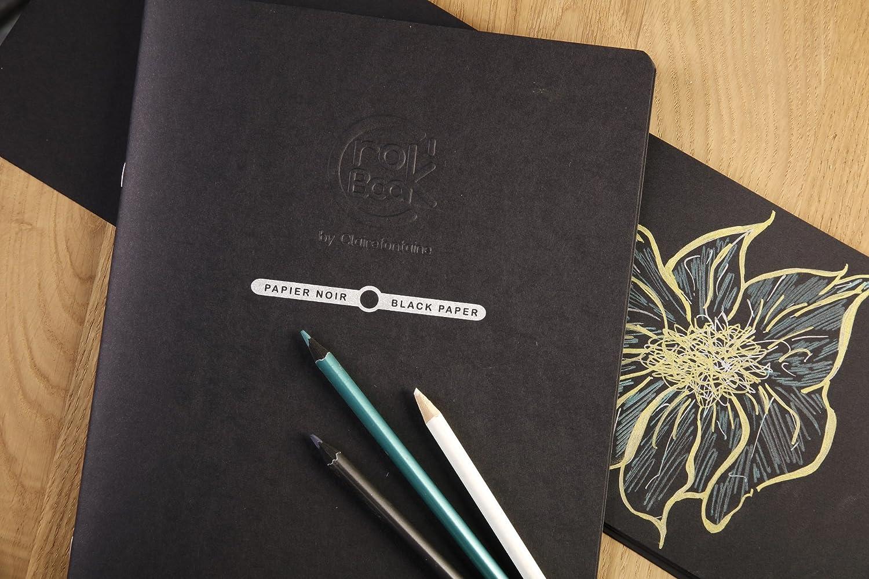 mit 160 g Sketch-Papier, ideal f/ür Notizen und Skizzen, Hochformat DIN A3, 29,7 x 42 cm, 20 Blatt schwarz Clairefontaine 60352C Zeichenheft Crok/´Book