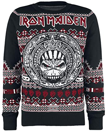 Iron Maiden Holiday Sweater 2018 Christmas Jumper S: Amazon.es: Ropa y accesorios