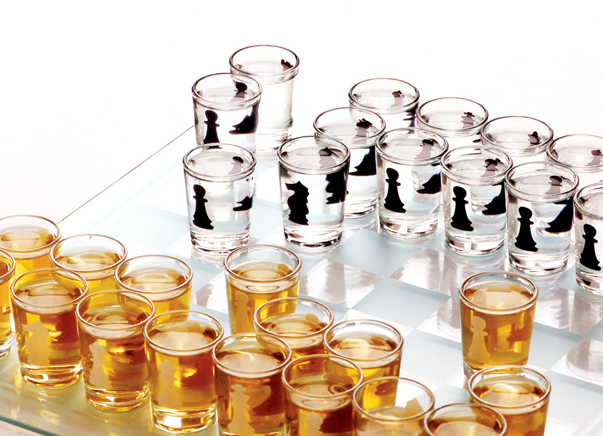 Home Essentials & Beyond Funville Chess Drinking Game with Shot Glasses, Clear by Home Essentials & Beyond