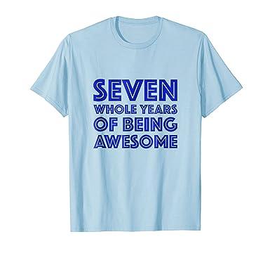 Mens 7th Birthday Shirt Gift Boys Age 7 Seven Year Old Boy Tshirt 2XL Baby Blue