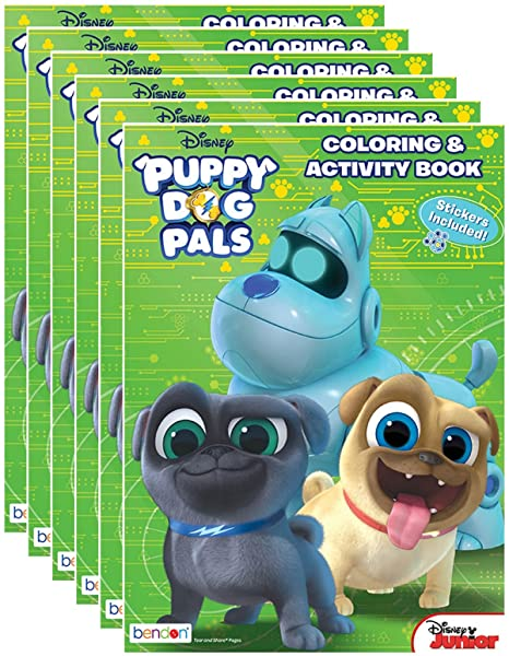 Disney Juniors Puppy Dog Pals Coloring And Activity Book With Stickers Pack Of 6