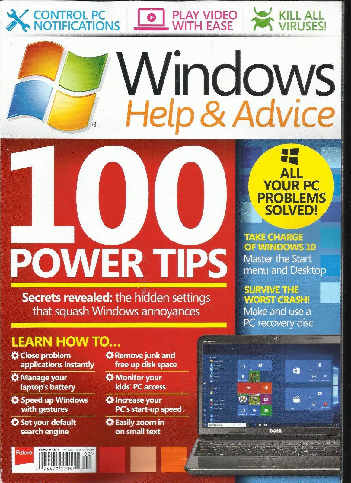 WINDOWS HELP & ADVICE MAGAZINE, FEBRUARY, 2017 ISSUE, 131 PRINTED IN UK