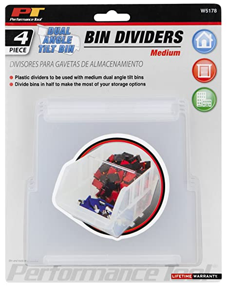 Performance Tool W5173 Dual Position Tilt Storage Organizer Bins for Toys//Parts//Sewing//Legos /& More Medium