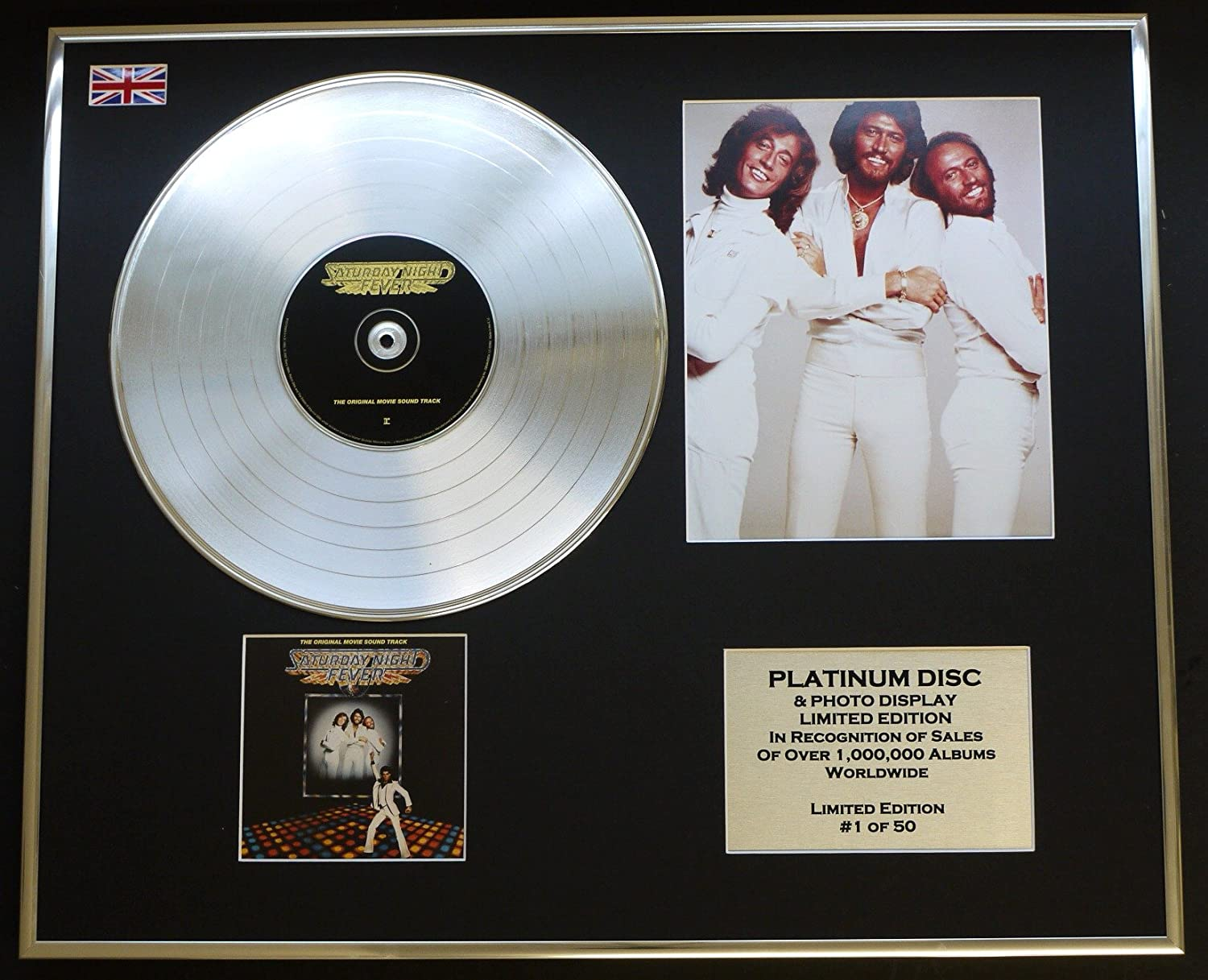 Bee GEES//Display CD//Limited Edition//COA//Saturday Night Fever Movie Soundtrack