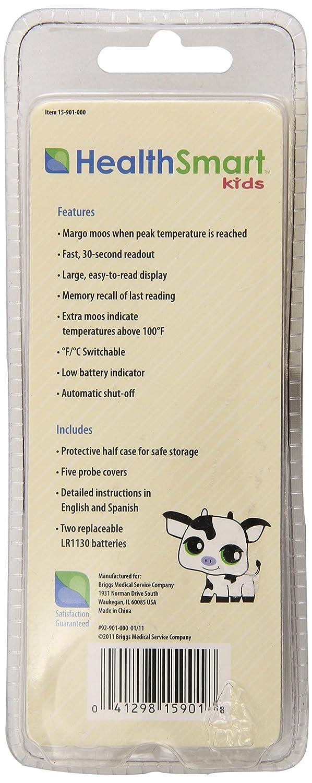 Amazon.com: HealthSmart Kids Margo Moo Animal Shaped 30-Second Digital Thermometer, Purple: Health & Personal Care