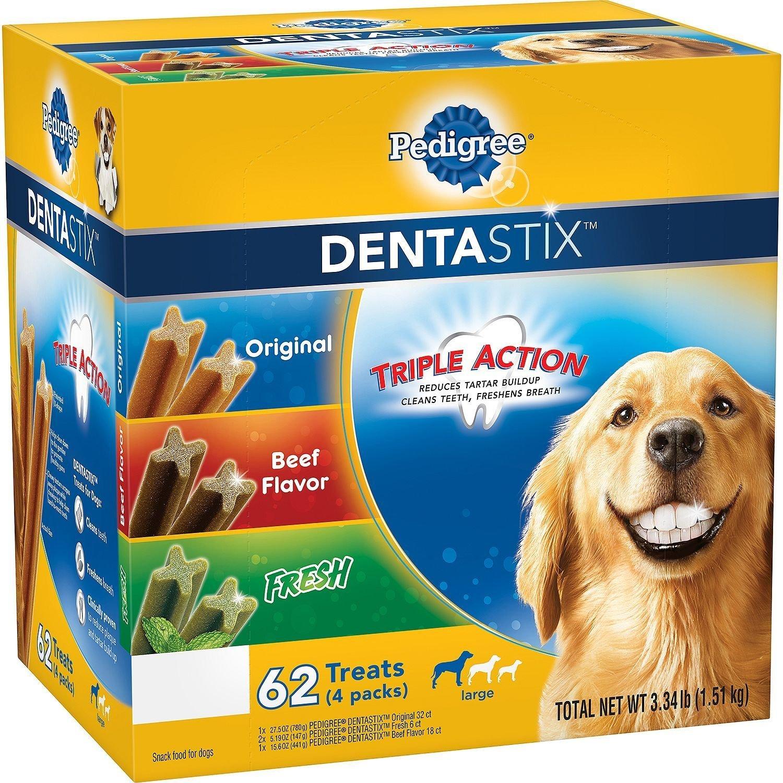 Pedigree DentaStix Dog Treats Assorted Flavors 62 Treats